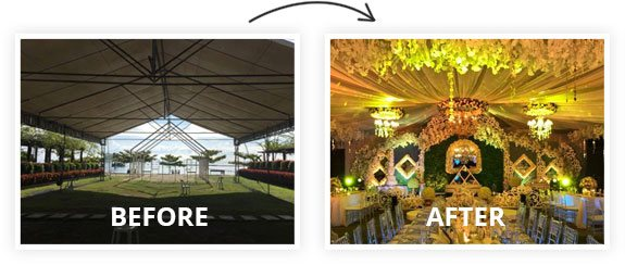 Before and After Event Decoration in Davao City - The Venue