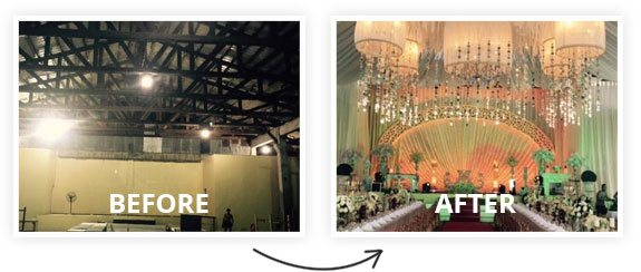 Before and After Event Decoration in Davao City - Tagum